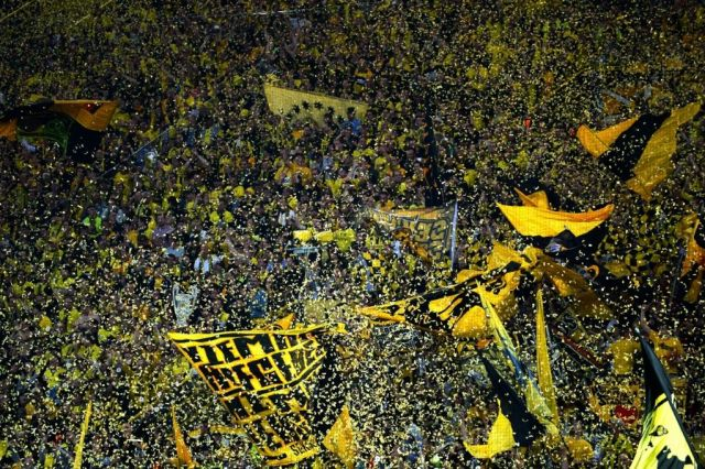 Borussia Dortmund's famous stadium support was in full voice.
