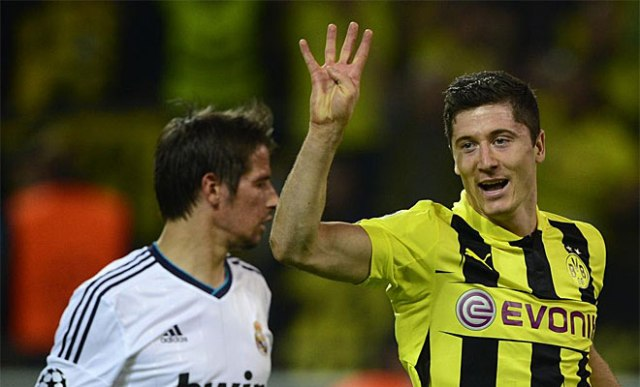 Lewandowski's awesome display of finishing showed Real Madrid what they're missing.